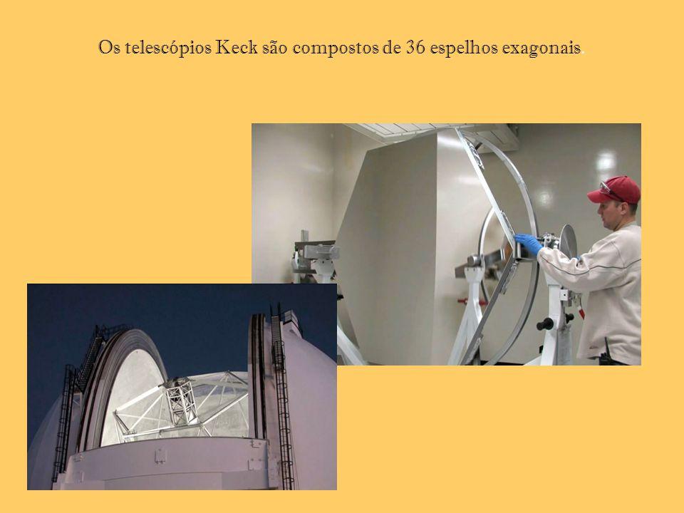 Os telescópios Keck são compostos de 36 espelhos exagonais.