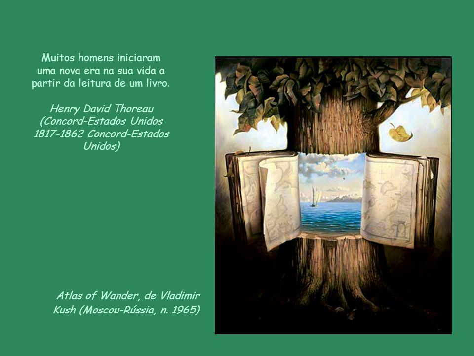 Livros, de Van Gogh (Zundert-Holanda 1853-1890 Auvers-sur-Oise-França) A leitura engrandece a alma. Voltaire, pseudônimo de François-Marie Arouet (Par