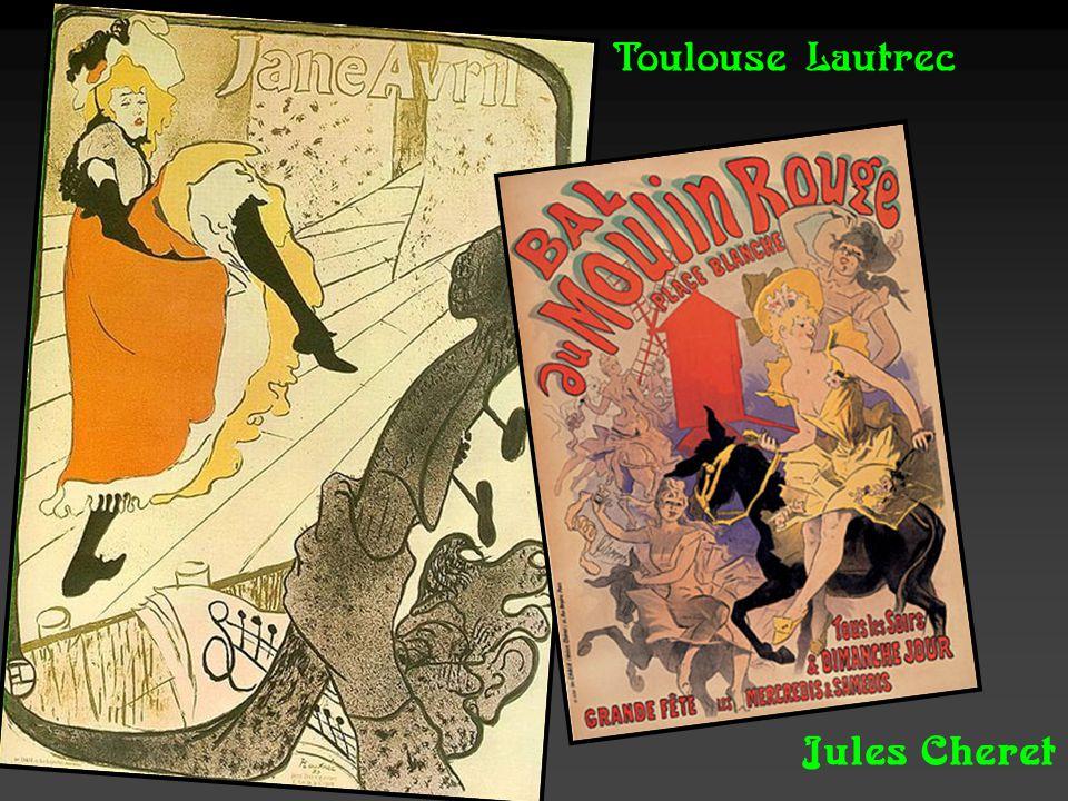 Cartaz de Alphonse Mucha, pintor tcheco. Seus desenhos eram difundidos desde rótulos para latas de biscoitos a cartazes.