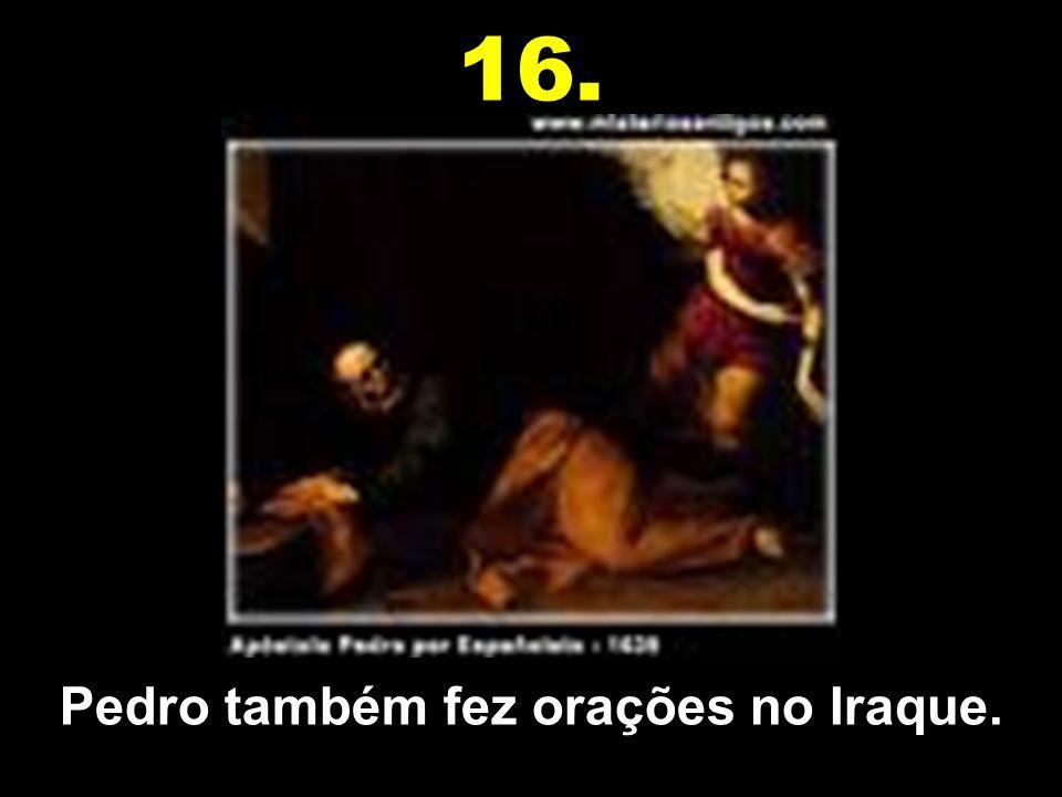 Os Reis Magos eram do Iraque. 15.