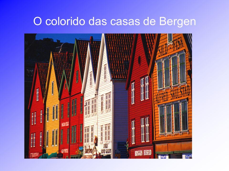O colorido das casas de Bergen