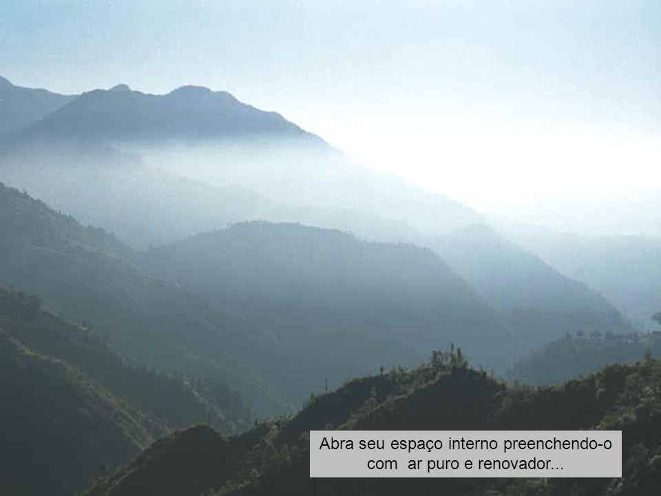 Aproveite esta viagem e observe sua respiração...