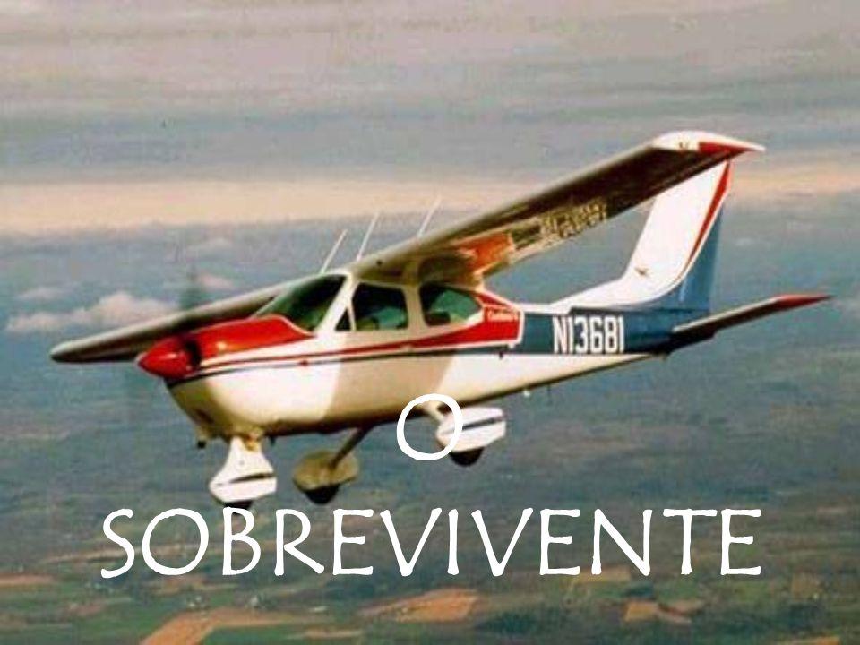 Após um acidente de avião, o único sobrevivente agradeceu a Deus por estar vivo e ter conseguido se agarrar a parte dos destroços para poder ficar boiando.