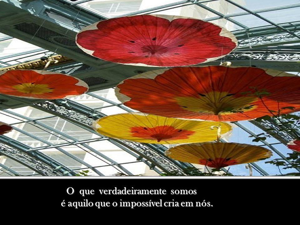 O que verdadeiramente somos O que verdadeiramente somos é aquilo que o impossível cria em nós.