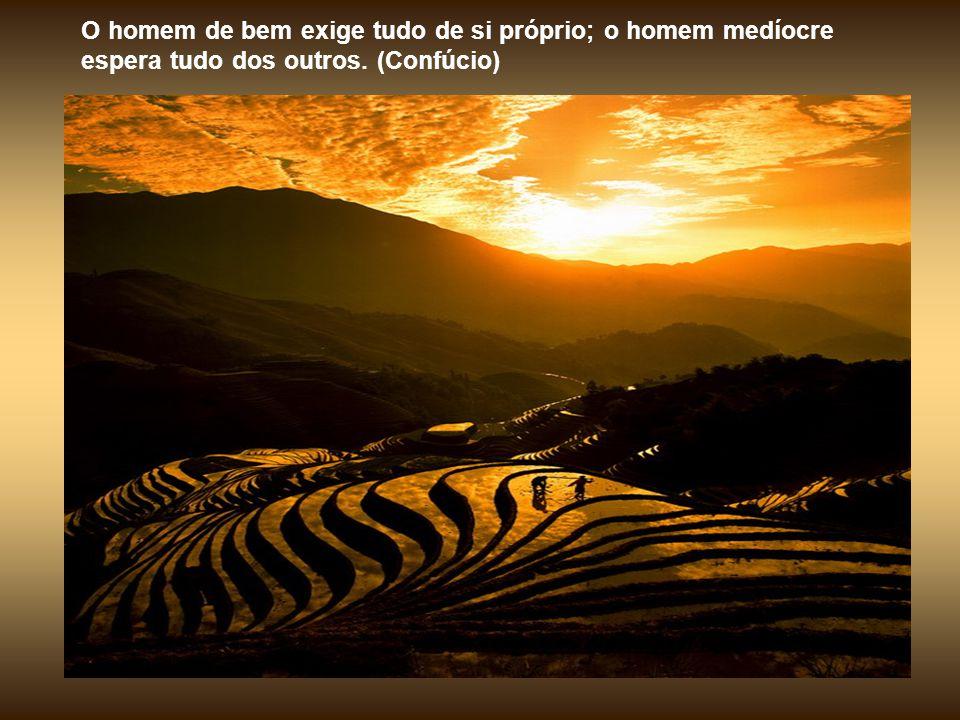 O sábio teme o céu sereno; em compensação, quando vem a tempes- tade ele caminha sobre as ondas e desafia o vento. (Confúcio)