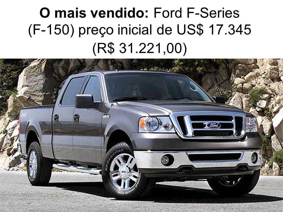 O mais vendido: Ford F-Series (F-150) preço inicial de US$ 17.345 (R$ 31.221,00)