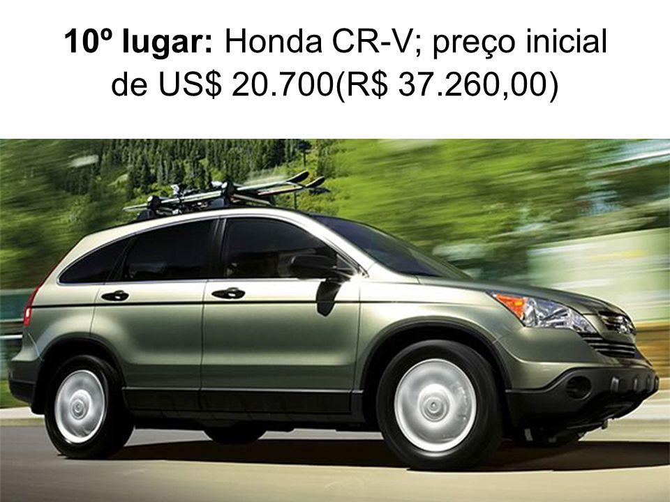 10º lugar: Honda CR-V; preço inicial de US$ 20.700(R$ 37.260,00)