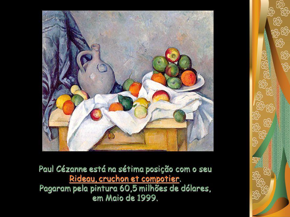 A segunda obra de Van Gogh na lista é o: Autorretrato sin barba. Ocupa o sétimo lugar no ranking: em Novembro de 1988 custou 71,5 milhões de dólares.