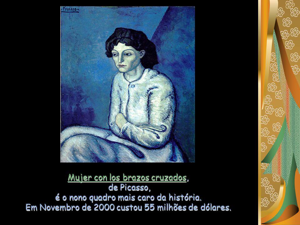 Paul Cézanne está na sétima posição com o seu Rideau, cruchon et compotier. Pagaram pela pintura 60,5 milhões de dólares, em Maio de 1999.