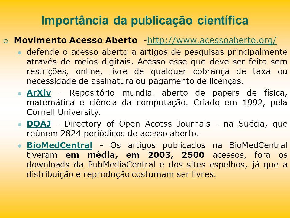 Estimular a publicação científica A publicação é parte essencial da pós-graduação.