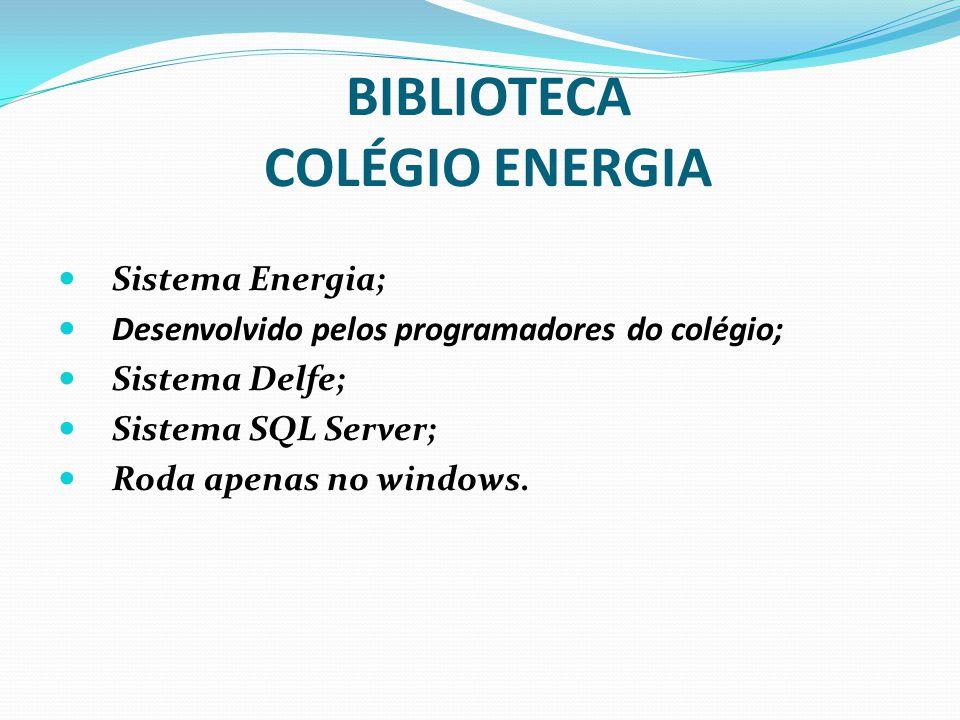 Referências INFOLIB.Sistema para gestão de bibliotecas.