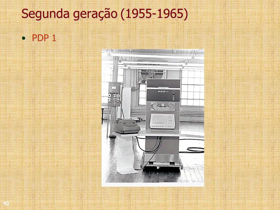 40 Segunda geração (1955-1965) PDP 1PDP 1