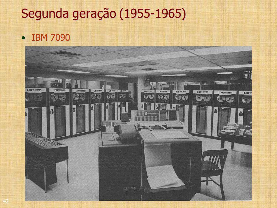 42 Segunda geração (1955-1965) IBM 7090IBM 7090
