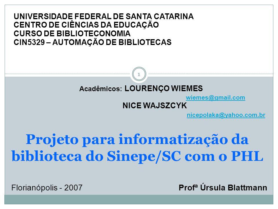2 Implantação de software 2 VÍDEO INSTITUCIONAL SINEPE/SC