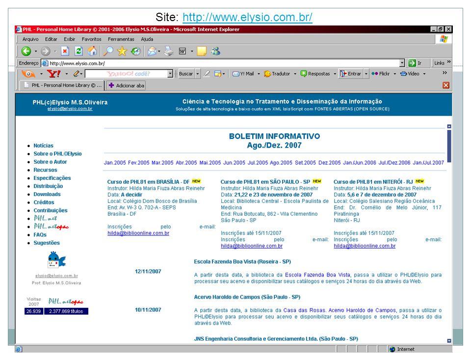 88 Site: http://www.elysio.com.br/http://www.elysio.com.br/