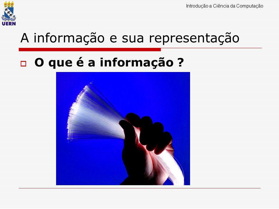 Introdução a Ciência da Computação A informação e sua representação O que é a informação .
