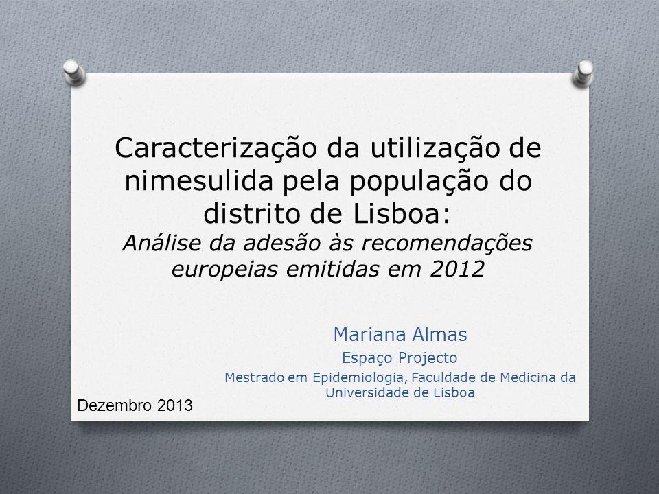 Caracterização da utilização de nimesulida pela população do distrito de Lisboa: Análise da adesão às recomendações europeias emitidas em 2012 Mariana