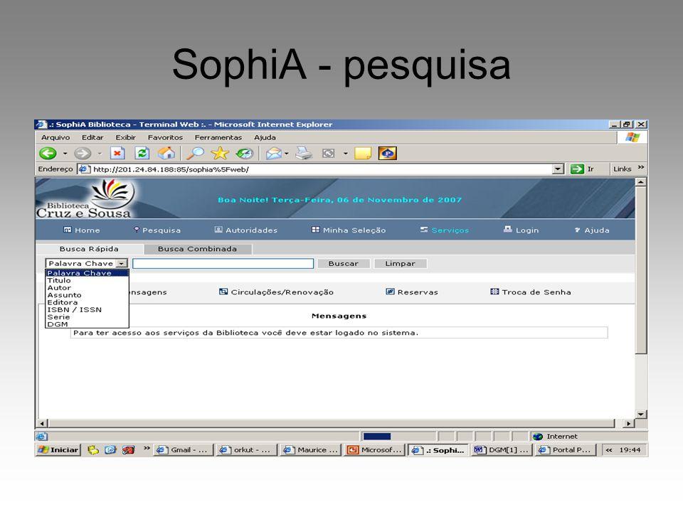 SophiA - pesquisa