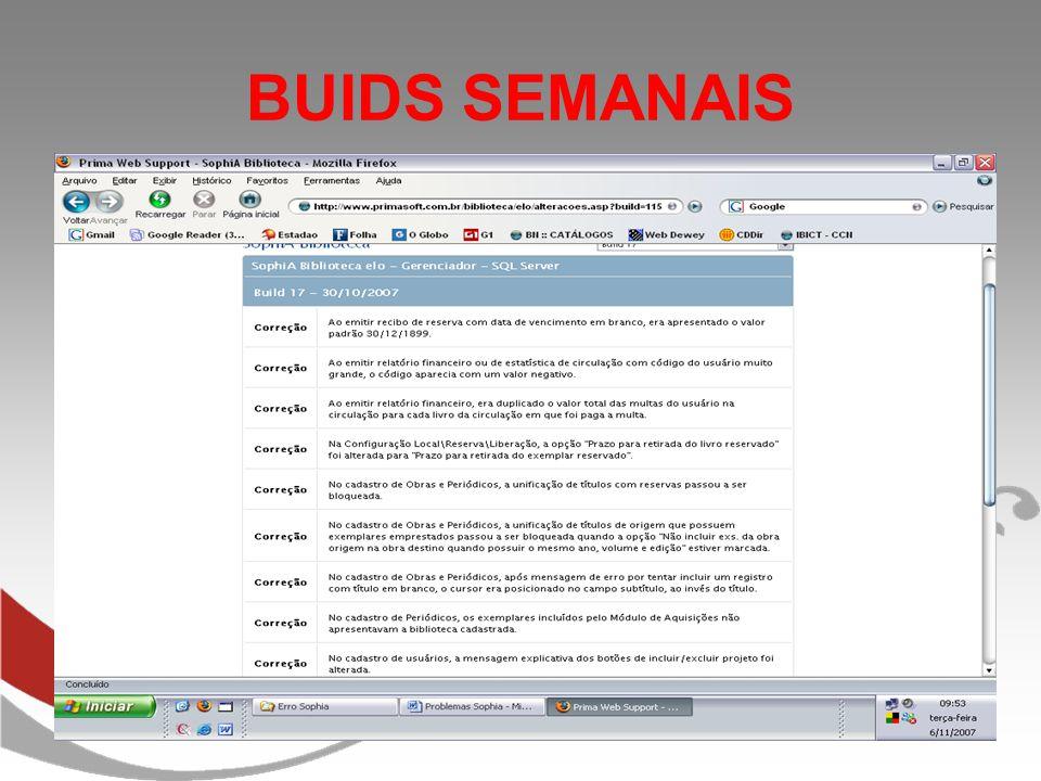 BUIDS SEMANAIS