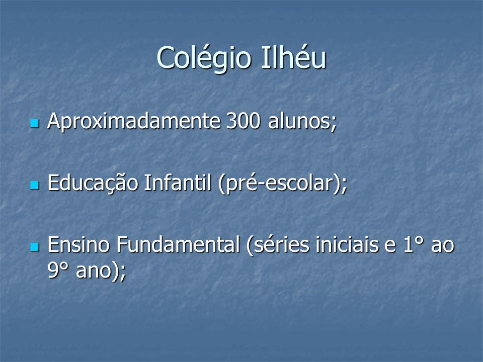 Colégio Ilhéu Aproximadamente 300 alunos; Aproximadamente 300 alunos; Educação Infantil (pré-escolar); Educação Infantil (pré-escolar); Ensino Fundame