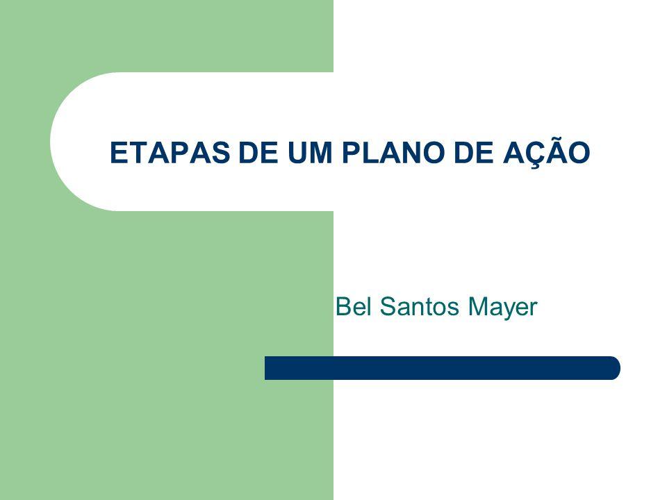 ETAPAS DE UM PLANO DE AÇÃO Bel Santos Mayer