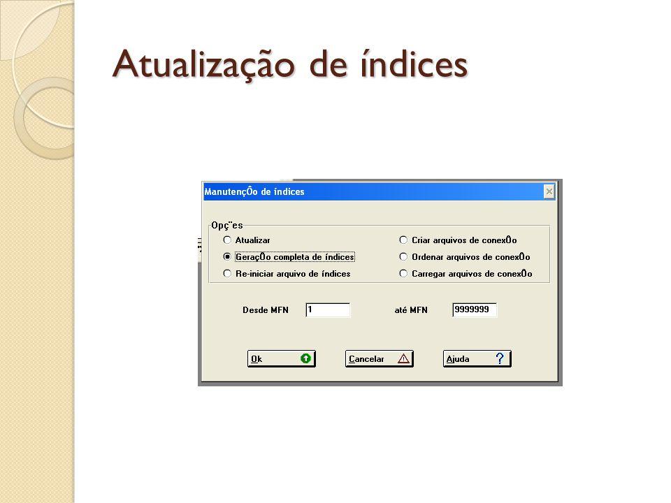 Atualização de índices