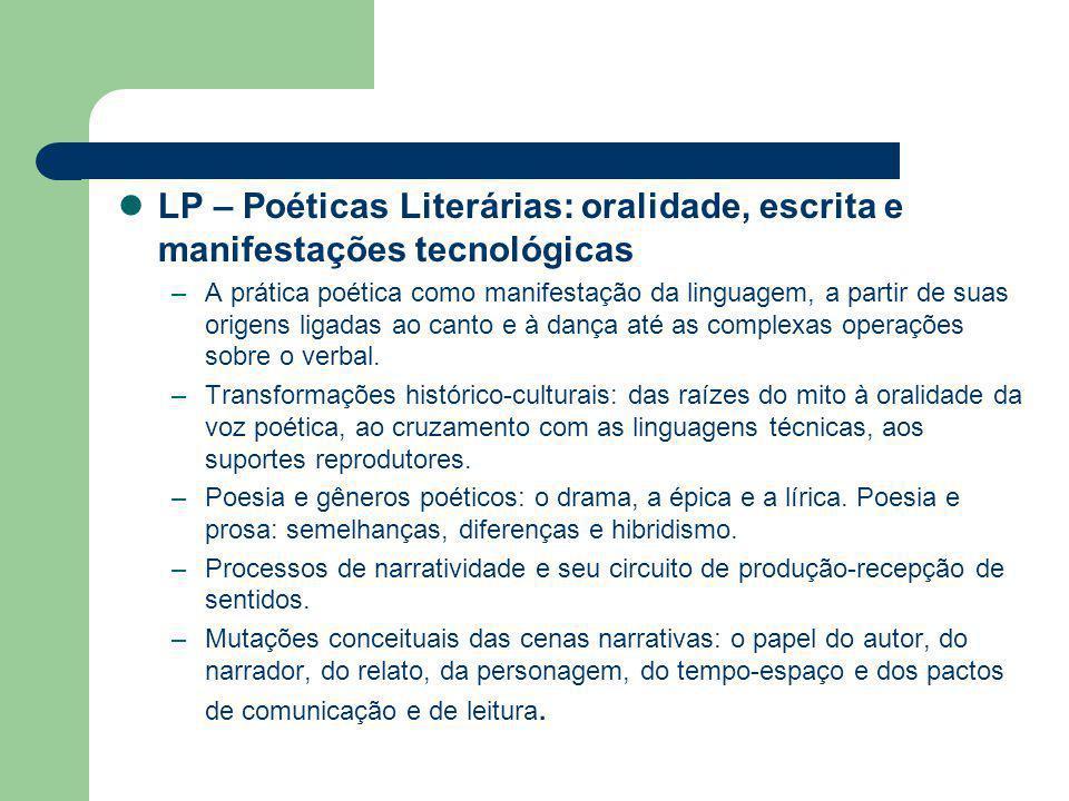LP – Crítica Literária: tradição e novas perpectivas estético-culturais –A origem da crítica e seus conceitos fundamentais: objeto, natureza, função, valor e método.