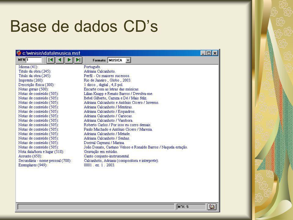 Base de dados CDs