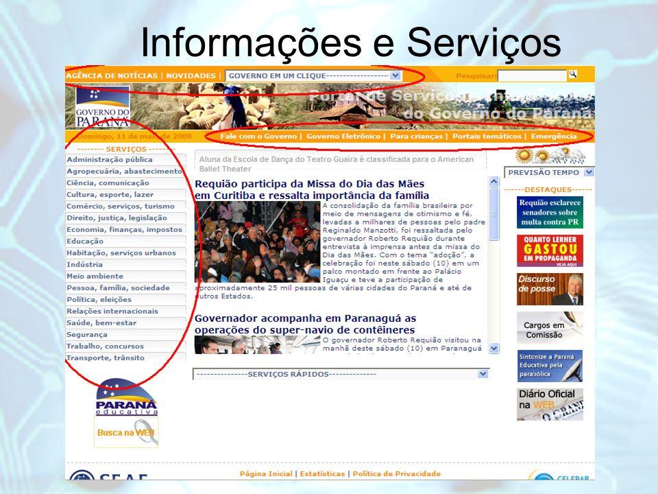 Informações e Serviços