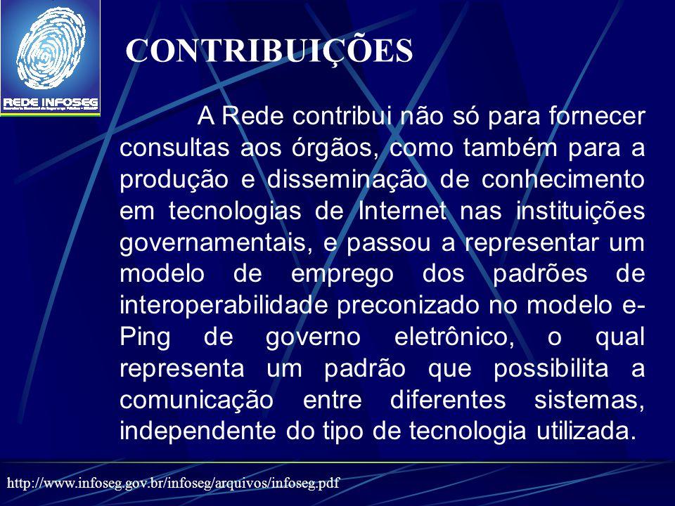 A Rede contribui não só para fornecer consultas aos órgãos, como também para a produção e disseminação de conhecimento em tecnologias de Internet nas