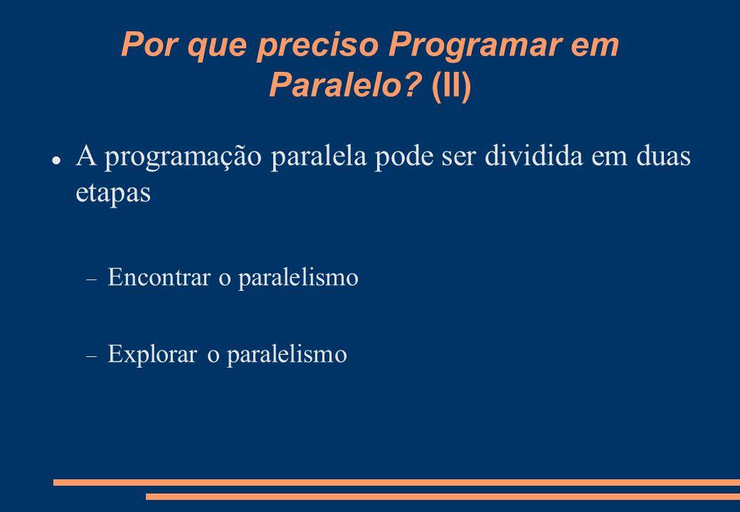 Por que preciso Programar em Paralelo.