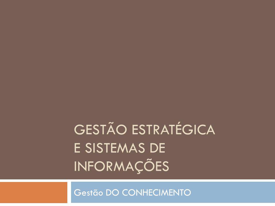 Gestão do Conhecimento - GC Deste modo, as organizações que aplicam a GC possuem uma preocupação na transformação de dados em informação e posteriormente em conhecimento, objetivando a promoção de sua ampliação para os colaboradores.