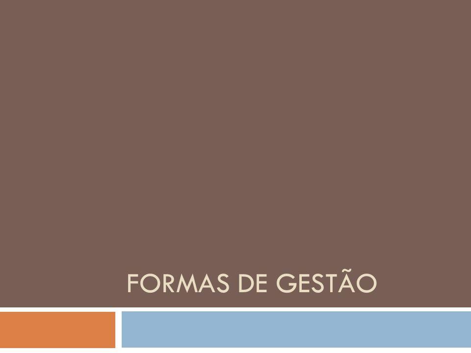 FORMAS DE GESTÃO