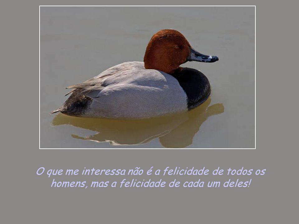 O que me interessa não é a felicidade de todos os homens, mas a felicidade de cada um deles!