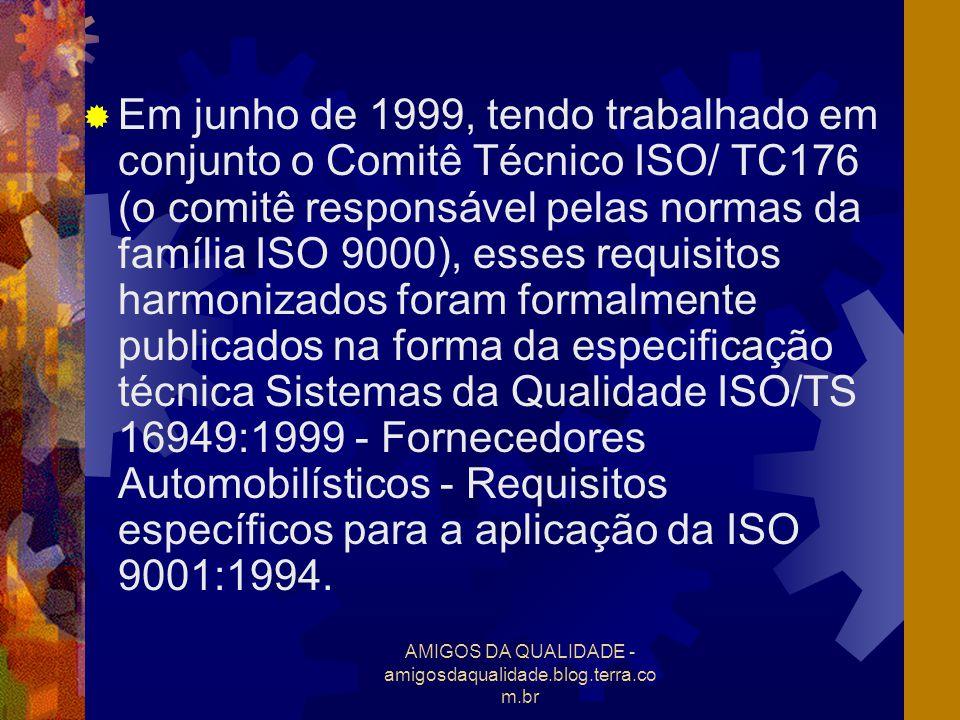 AMIGOS DA QUALIDADE - amigosdaqualidade.blog.terra.co m.br Em junho de 1999, tendo trabalhado em conjunto o Comitê Técnico ISO/ TC176 (o comitê respon
