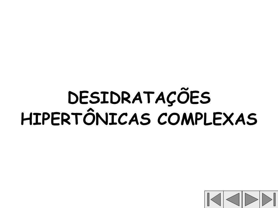 DESIDRATAÇÕES HIPERTÔNICAS COMPLEXAS