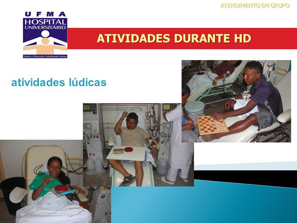 atividades lúdicas ATIVIDADES DURANTE HD ATENDIMENTO EM GRUPO