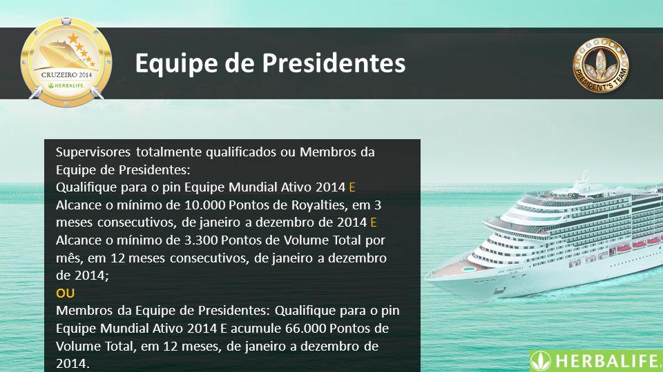 Equipe de Presidentes Supervisores totalmente qualificados ou Membros da Equipe de Presidentes: Qualifique para o pin Equipe Mundial Ativo 2014 E Alca