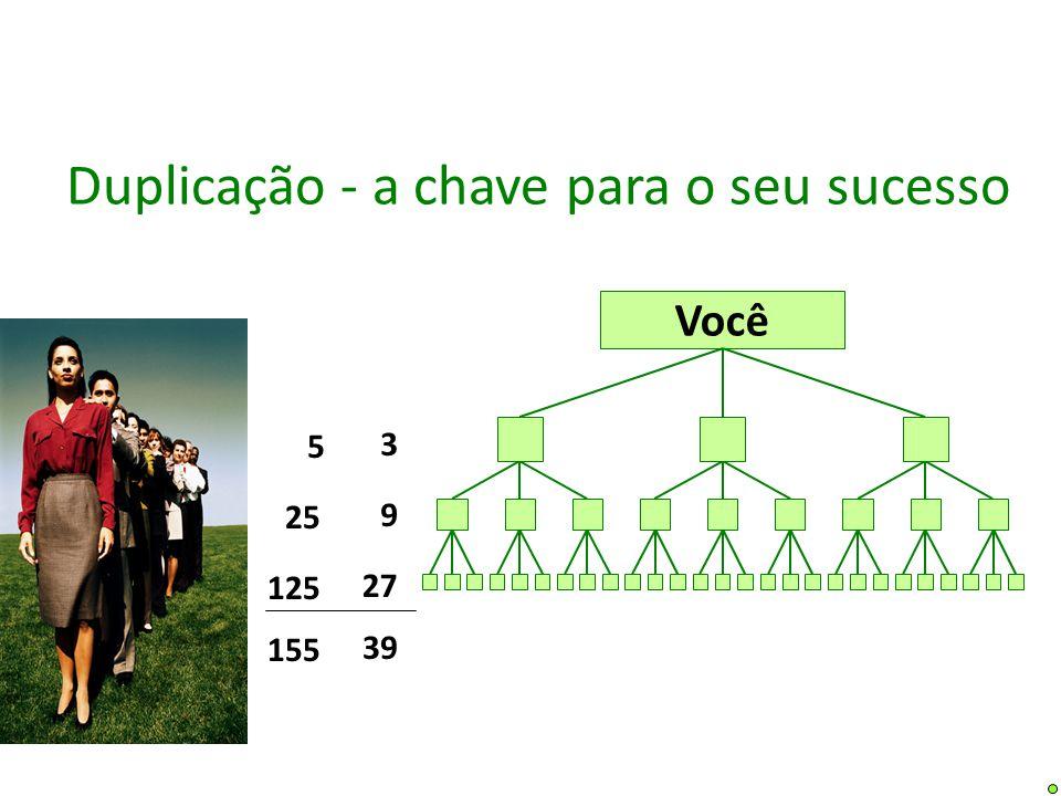 Você 39 9 27 3 Duplicação - a chave para o seu sucesso 155 25 125 5