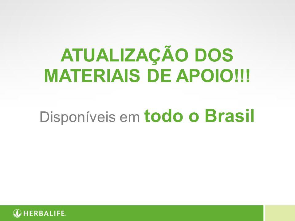 ATUALIZAÇÃO DOS MATERIAIS DE APOIO!!! Disponíveis em todo o Brasil