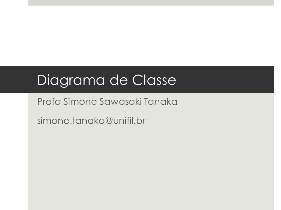 Diagrama de Classe Profa Simone Sawasaki Tanaka simone.tanaka@unifil.br