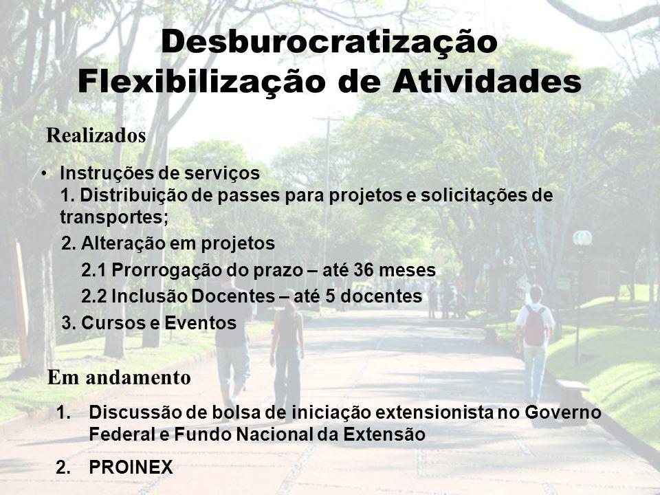 Desburocratização Flexibilização de Atividades Instruções de serviços 1.