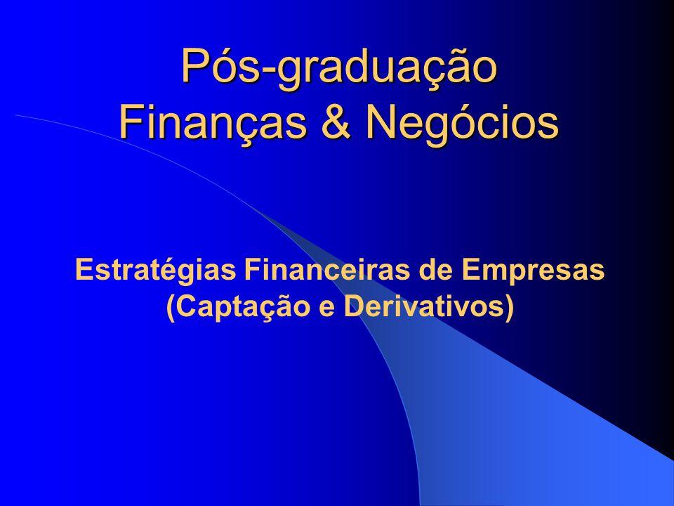 Estratégias Financeiras de Empresas (Captação e Derivativos)