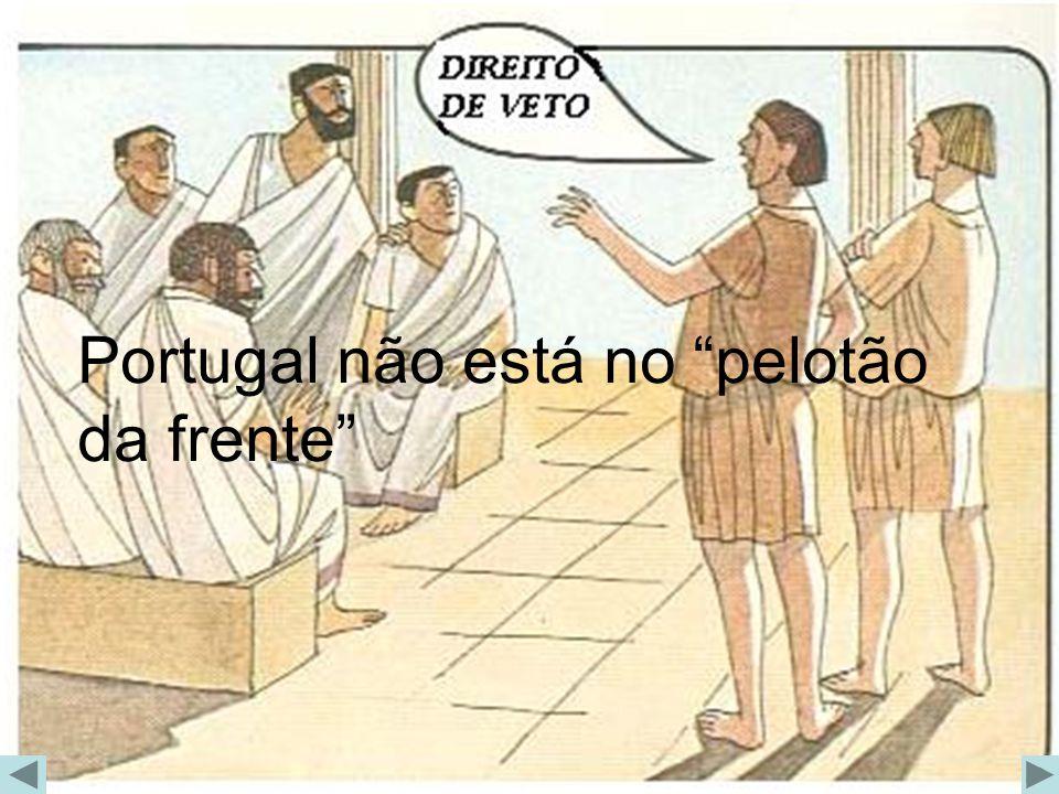 Portugal não está no pelotão da frente