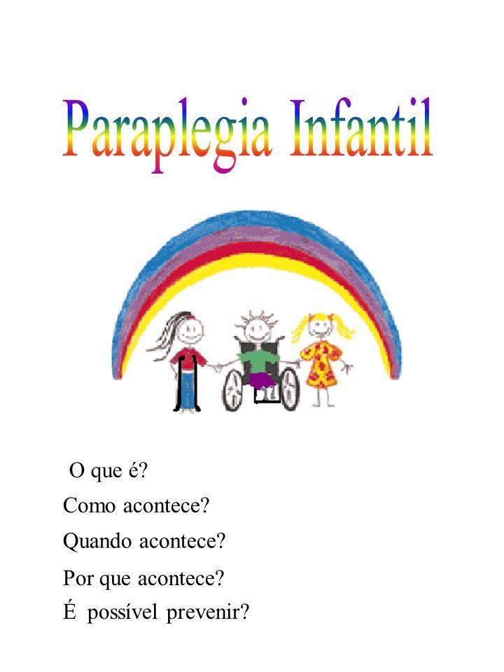 A Paraplegia Infantil ocorre quando a criança nasce com alteração na coluna.