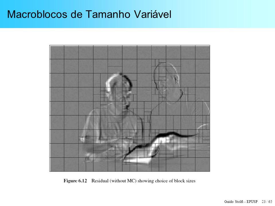 Guido Stolfi - EPUSP 23 / 65 Macroblocos de Tamanho Variável
