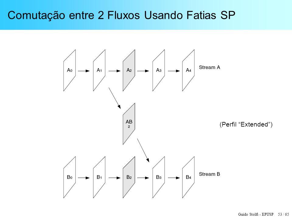 Guido Stolfi - EPUSP 53 / 65 Comutação entre 2 Fluxos Usando Fatias SP (Perfil Extended)