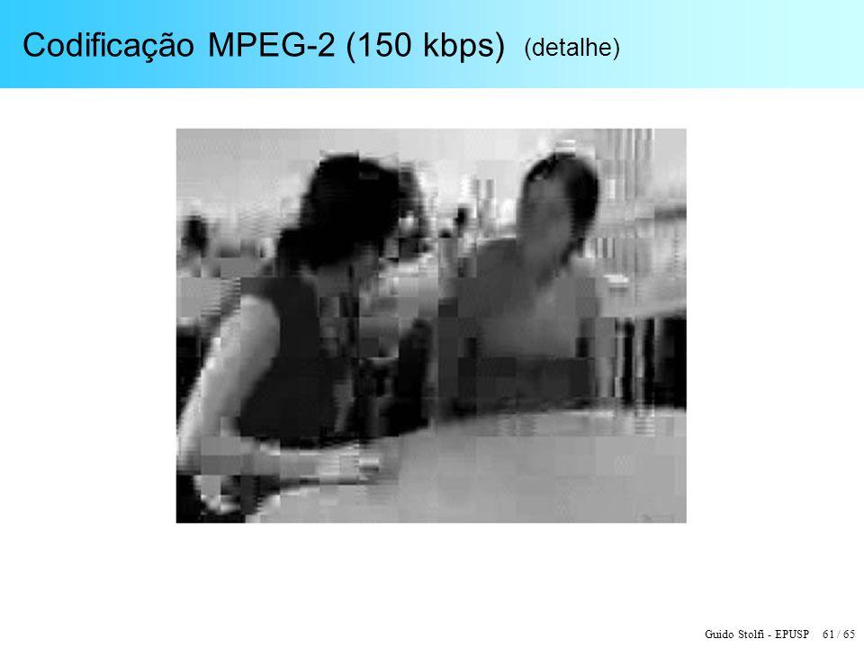 Guido Stolfi - EPUSP 61 / 65 Codificação MPEG-2 (150 kbps) (detalhe)