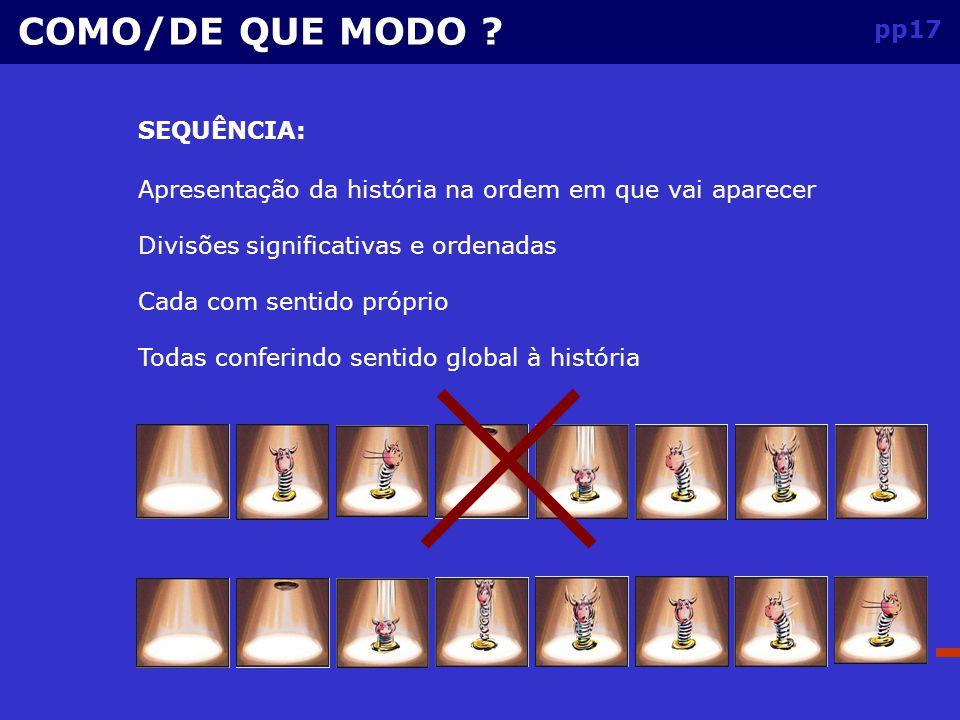 pp16 O problema consiste: COMO/DE QUE MODO .