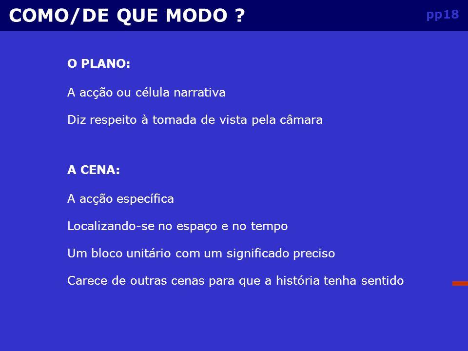 pp17 SEQUÊNCIA: COMO/DE QUE MODO .